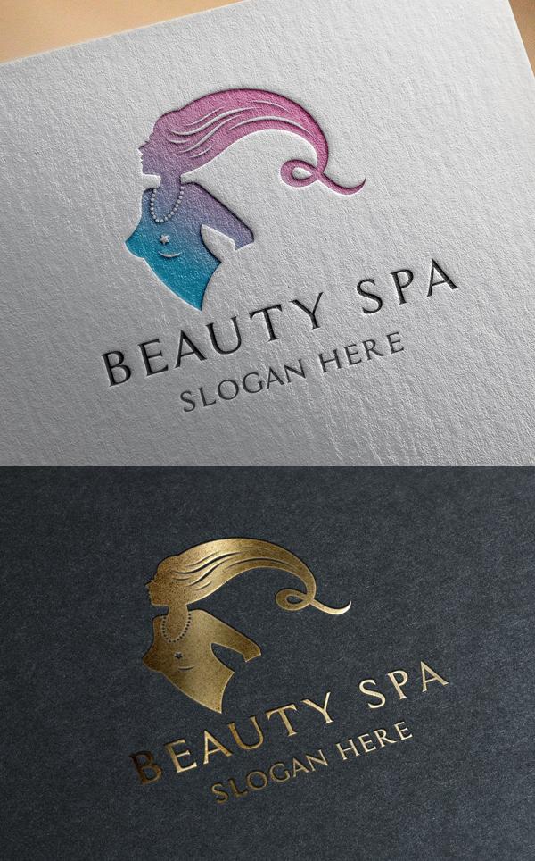 Beauty Spa Salon Logo Template