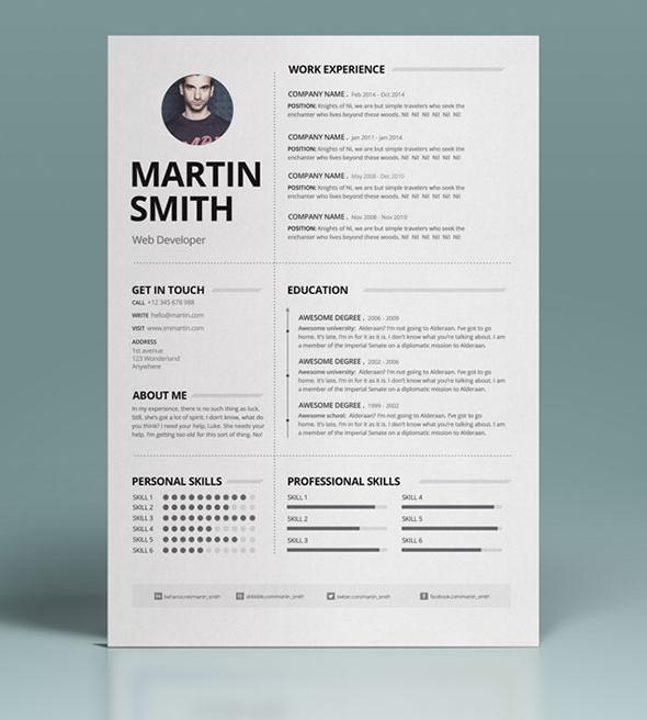 50 Best Minimal Resume Templates - 18
