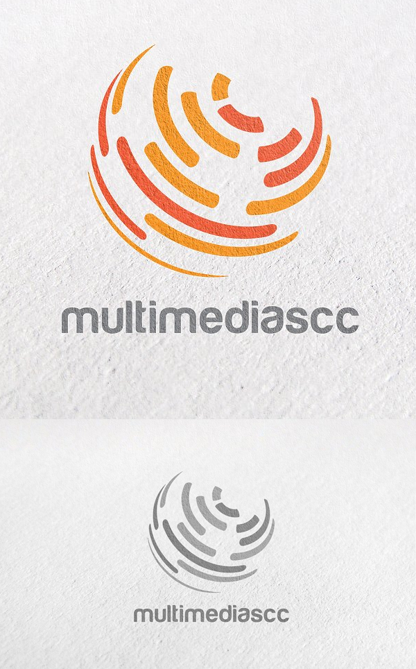Global, Unique, Circle, Technology Logo Template