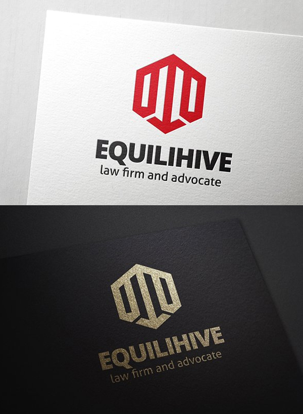 Equilihive Law Logo Template