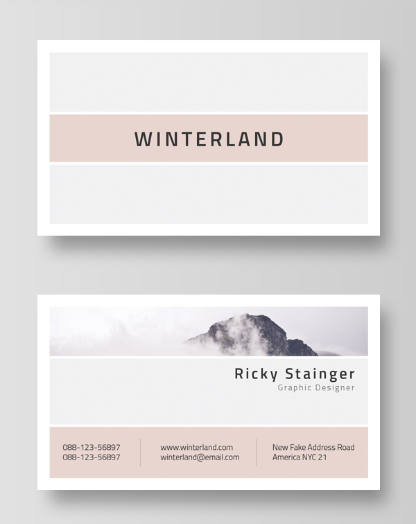 30 minimalistic business card designs psd templates idevie minimal and clean business card template fbccfo Choice Image