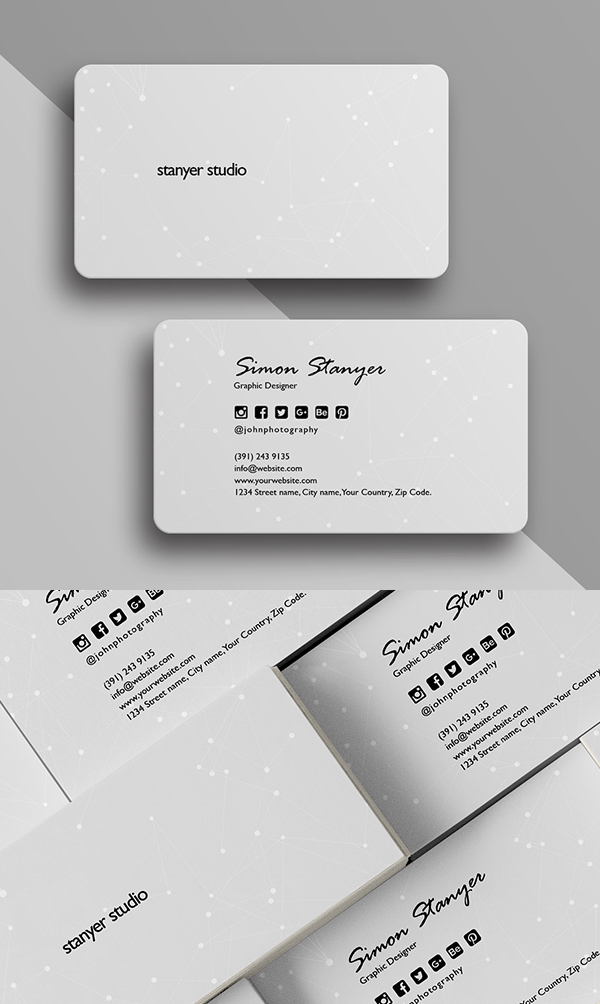 Elegant Minimal Business Card Template