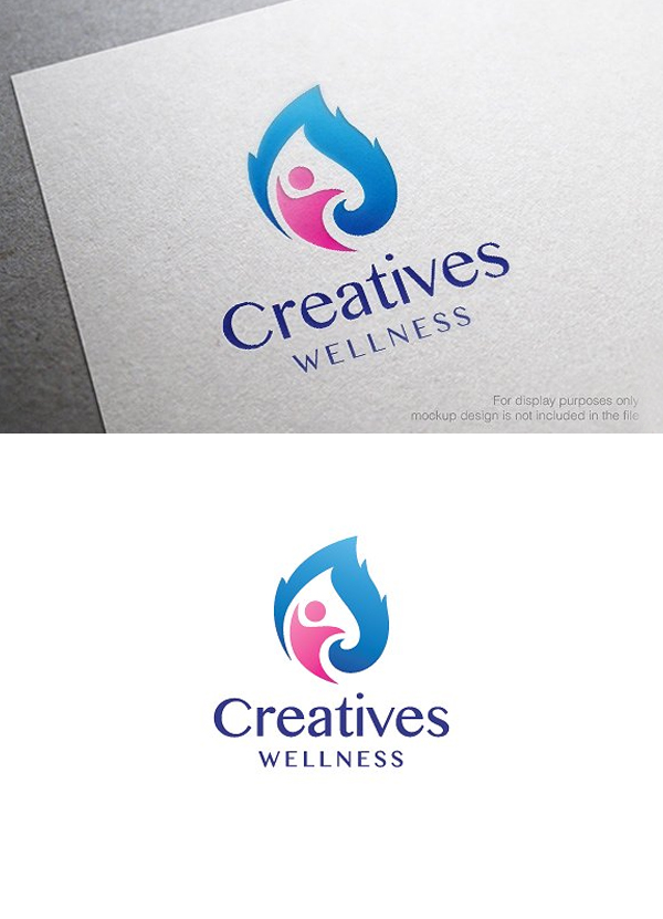Health and Wellness Logo Template