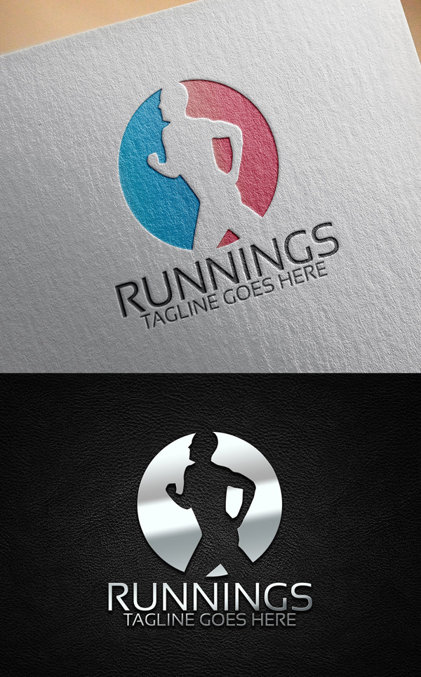 Running Fitness Logo Template
