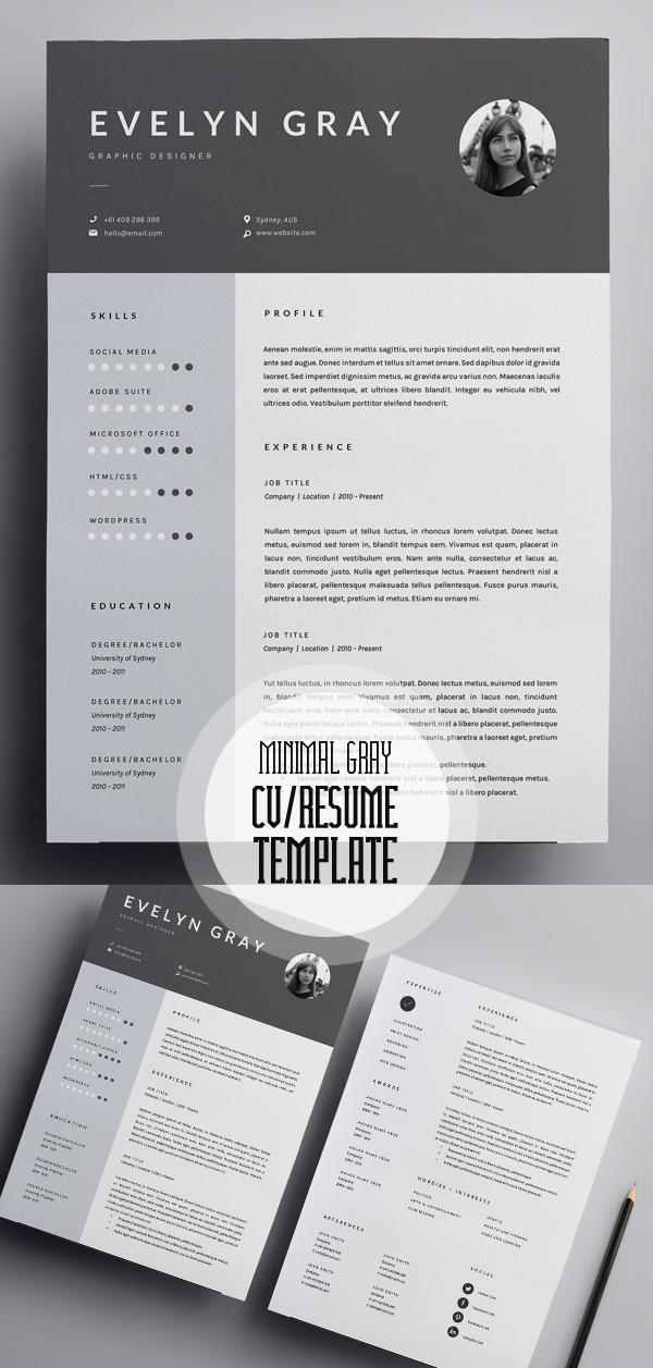 50 Best Minimal Resume Templates - 7
