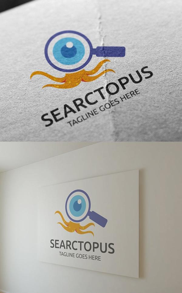 Searctopus Logo Template