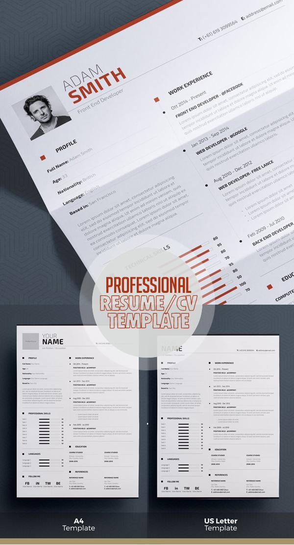 50 Best Minimal Resume Templates - 49