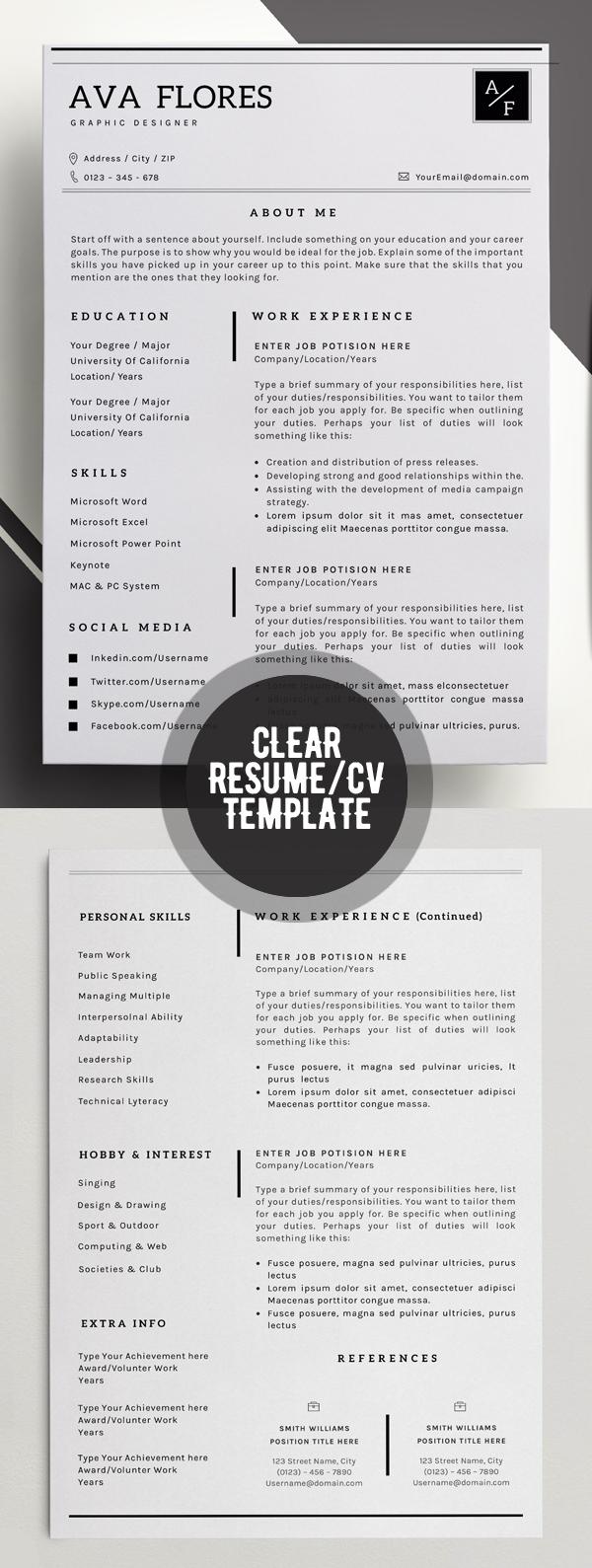 50 Best Minimal Resume Templates - 6