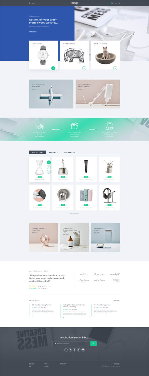 Foliage – Multipurpose WooCommerce WordPress Theme