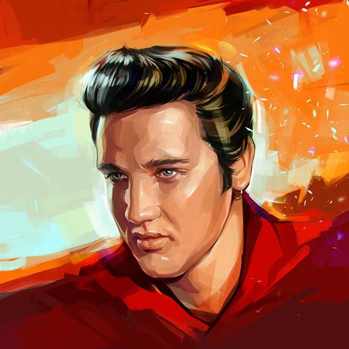 Elvis Aaron Presley Portrait