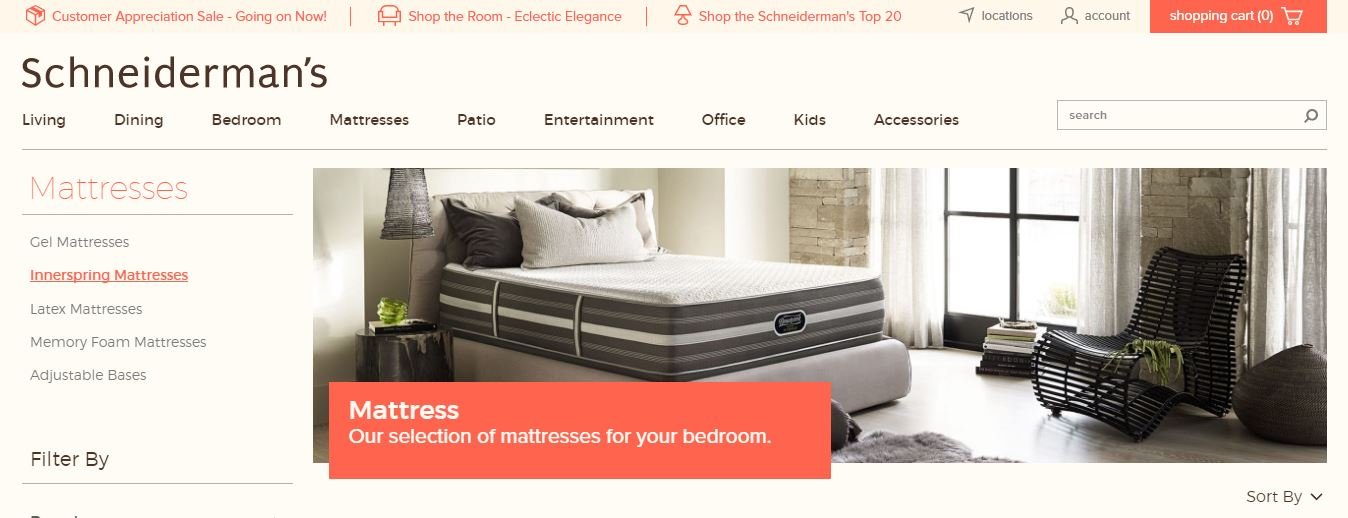Magento website for furniture