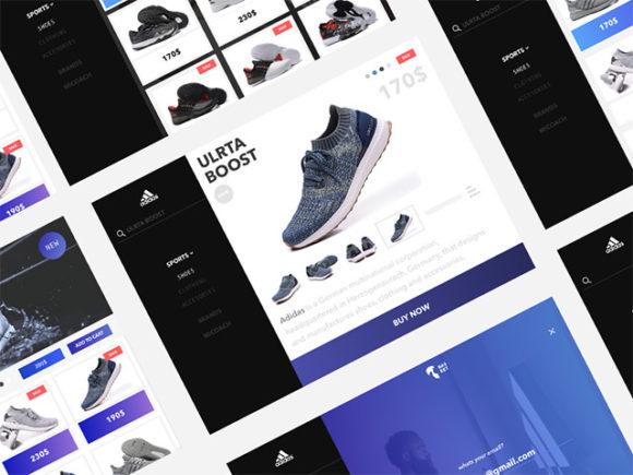 Adidas website redesign concept