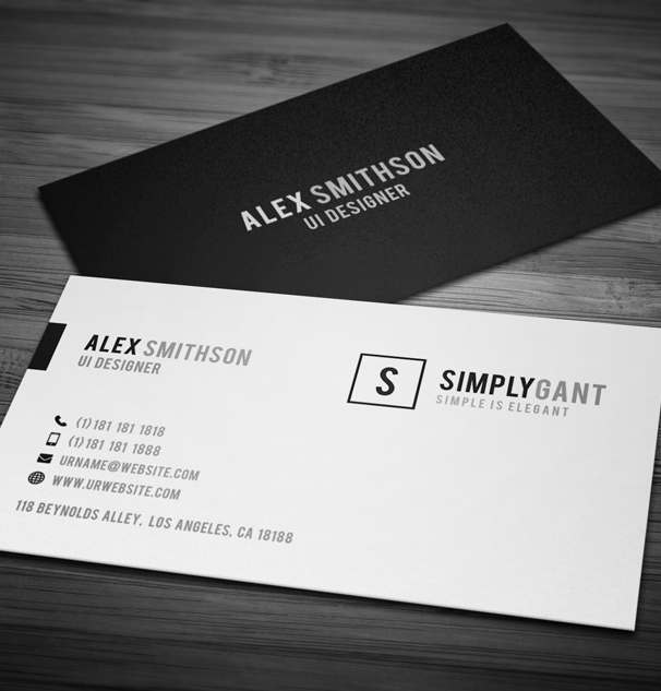 Sleek Elegant Business Cards