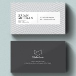 30 Minimalistic Business Card Designs (PSD) Templates
