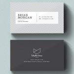 30 Minimalistic Business Card Designs (PSD) Templates