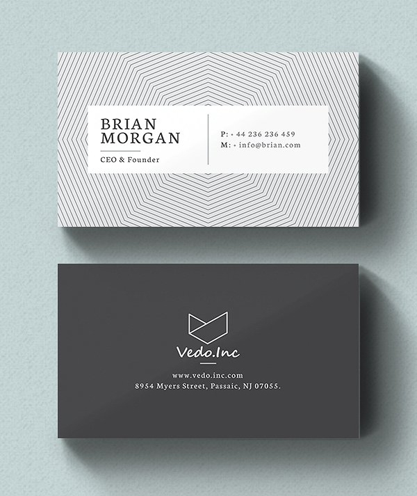 Minimalistic Business Card Designs Psd Templates  Idevie