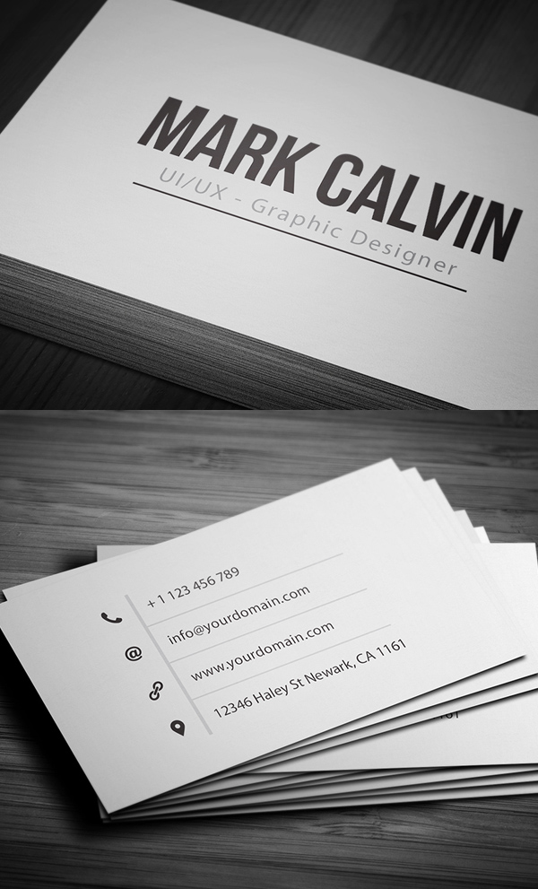 Simple Individual Business Card