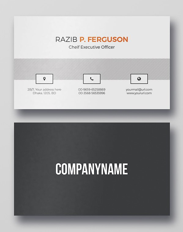 30 minimalistic business card designs psd templates idevie clean business card psd template accmission Images