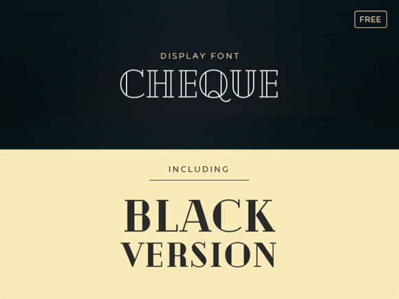 Cheque: A free font with vintage look
