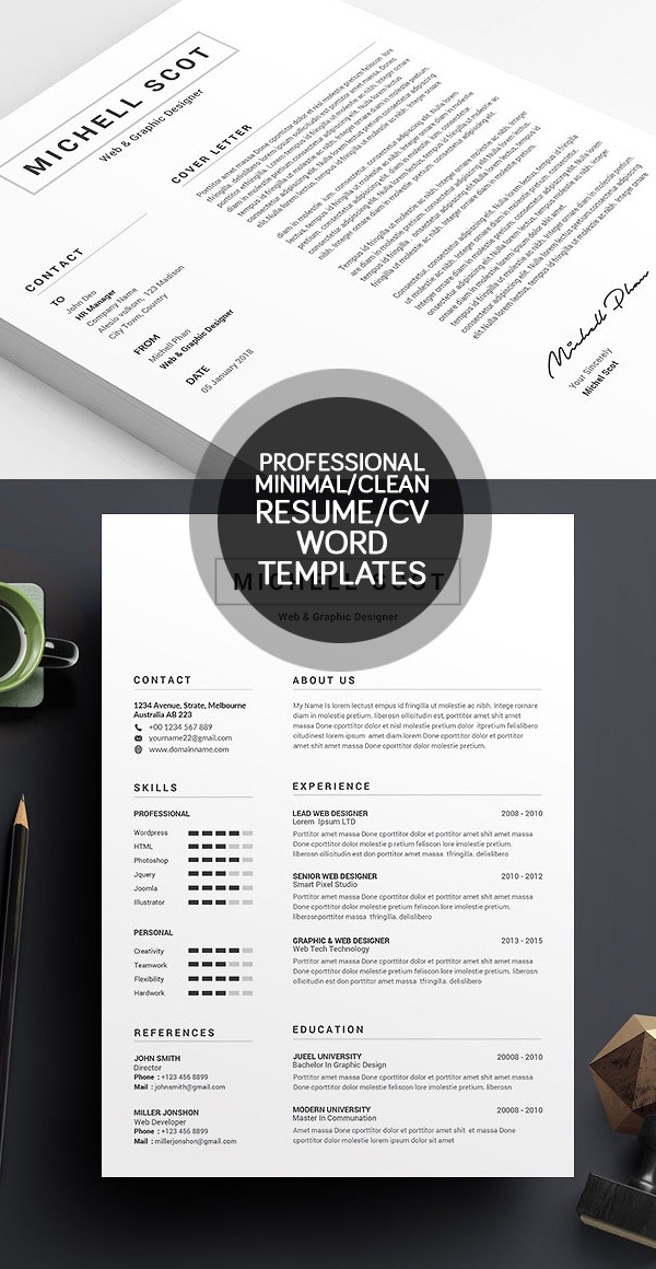 50 Best Minimal Resume Templates IDevie