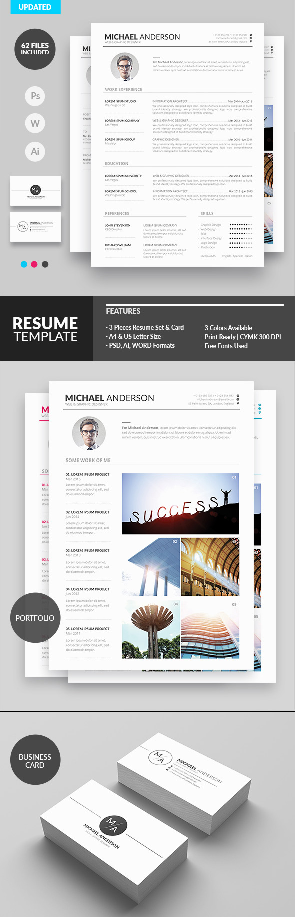 50 Best Minimal Resume Templates - 25