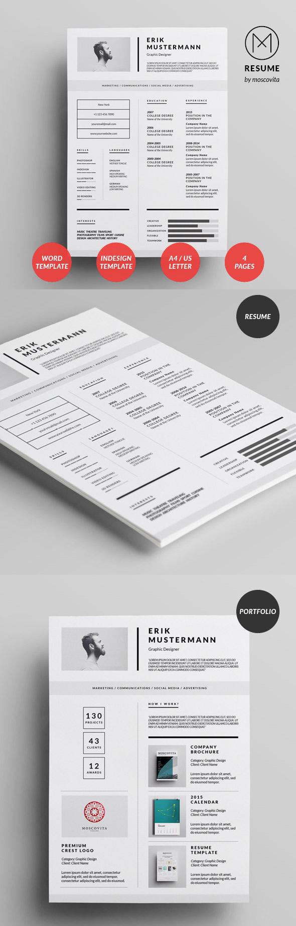 50 Best Minimal Resume Templates - 20