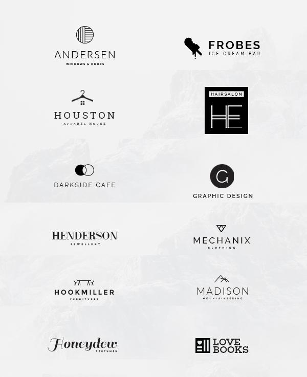 15 Free Minimalistic Logo Templates