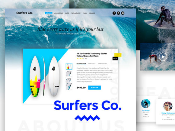 Surfers Co. - A Bootstrap-ready PSD template
