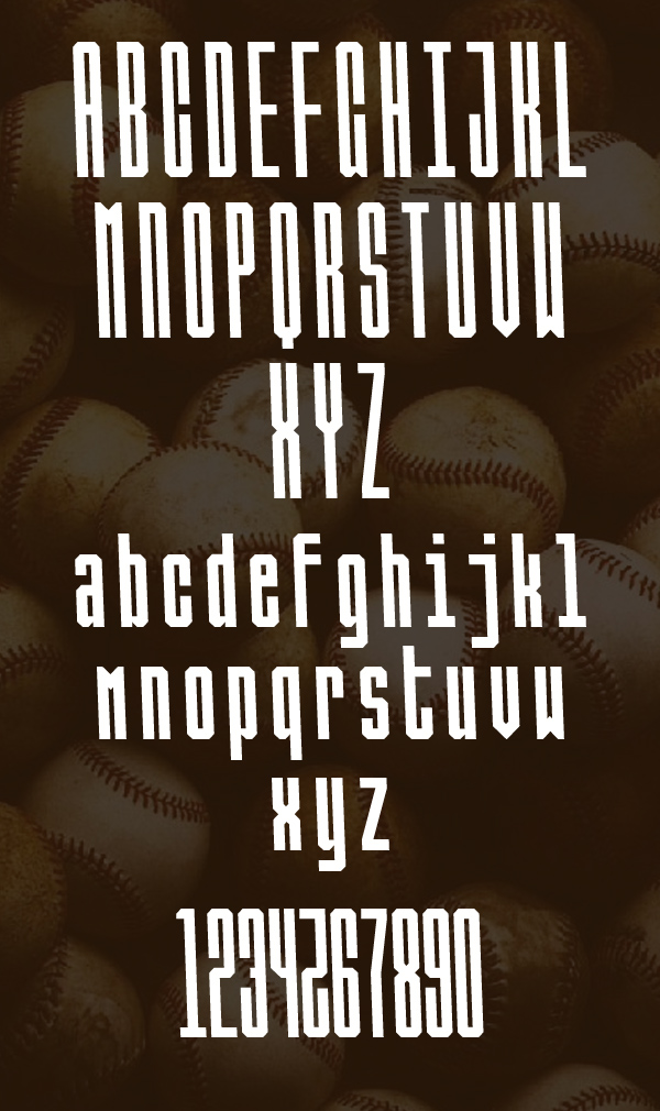 Ballbase Free Font Letters