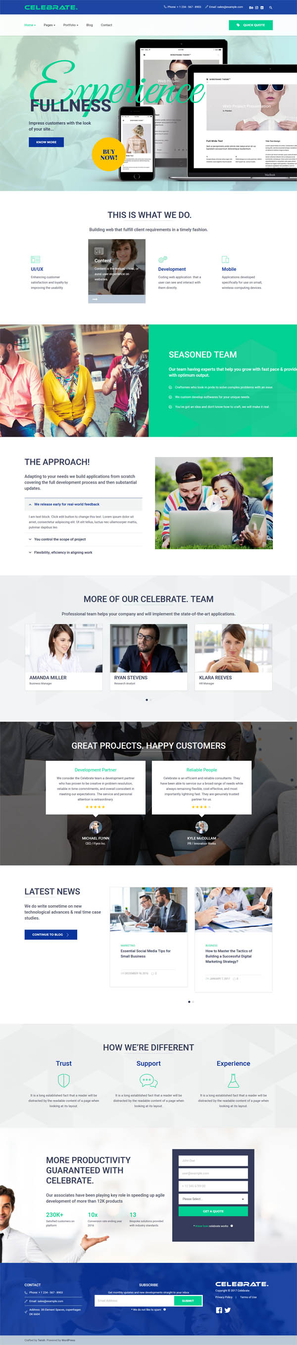Celebrate : Startup Business Theme