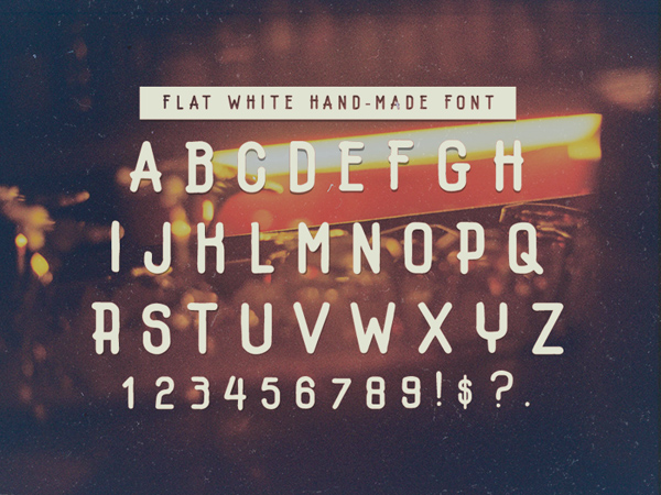 Flatwhite Free Font