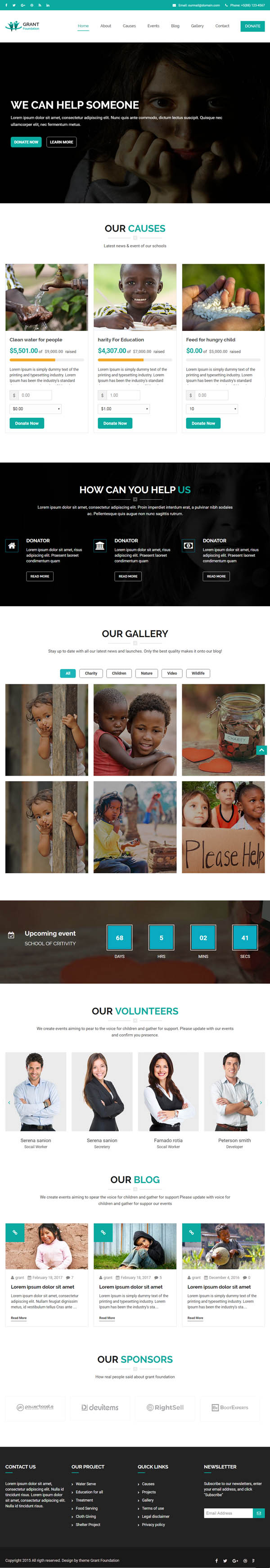 Grant : Responsive Charity WordPress Theme