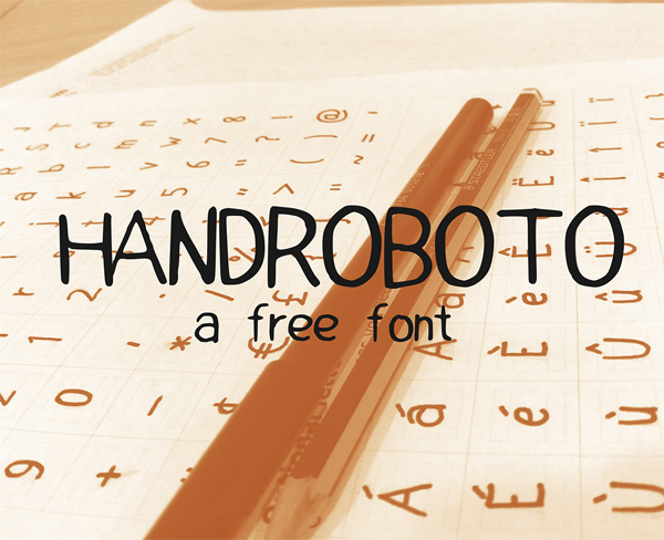 HandRoboto Free Font