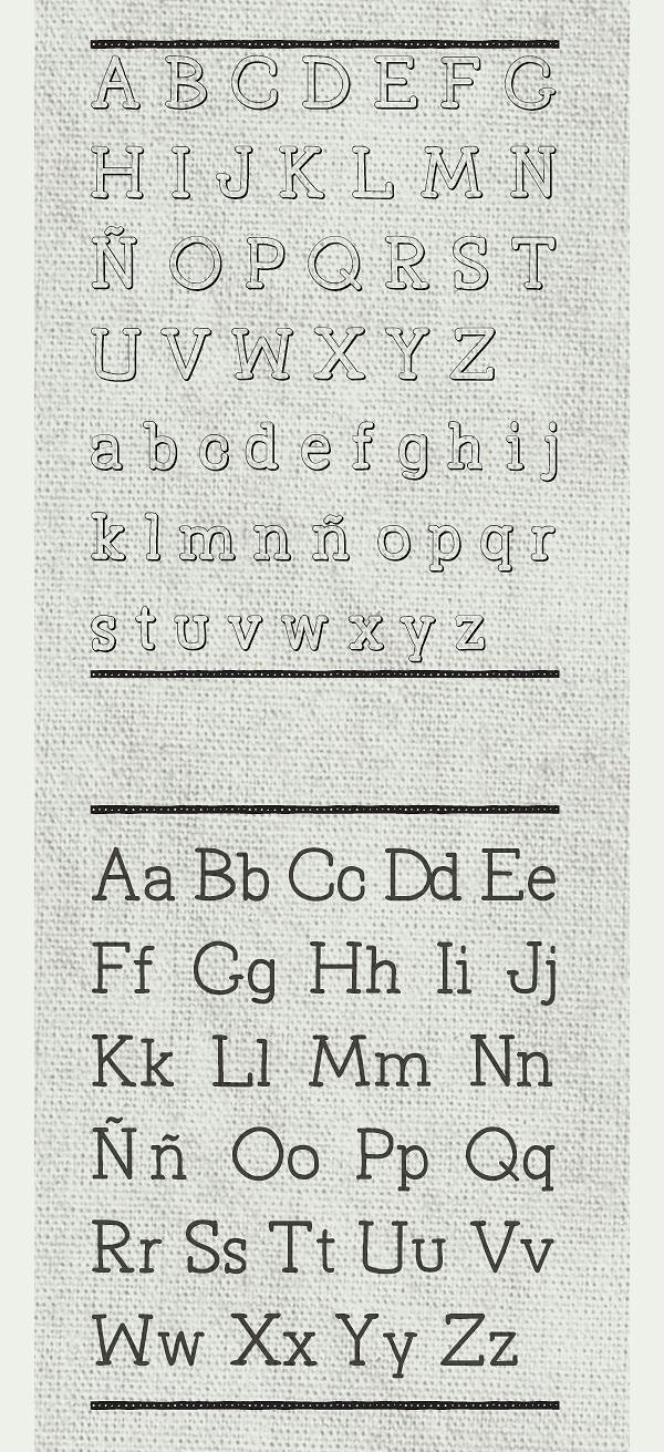 Primitiva Slab Free Font Letters