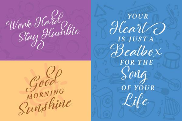 Rachella Script Free Font Letters