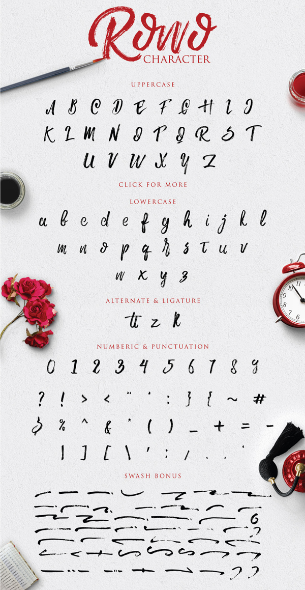 Rowo Free Font Letters