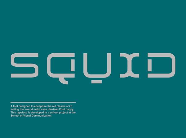 Squid Free Font