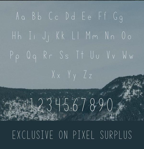 Terrain Free Font Letters