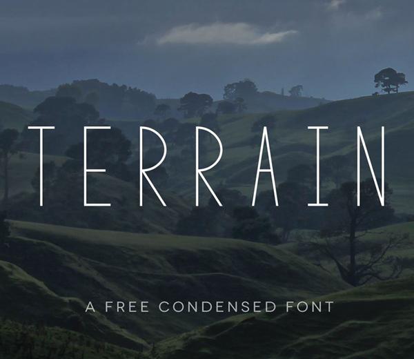 Terrain Free Font