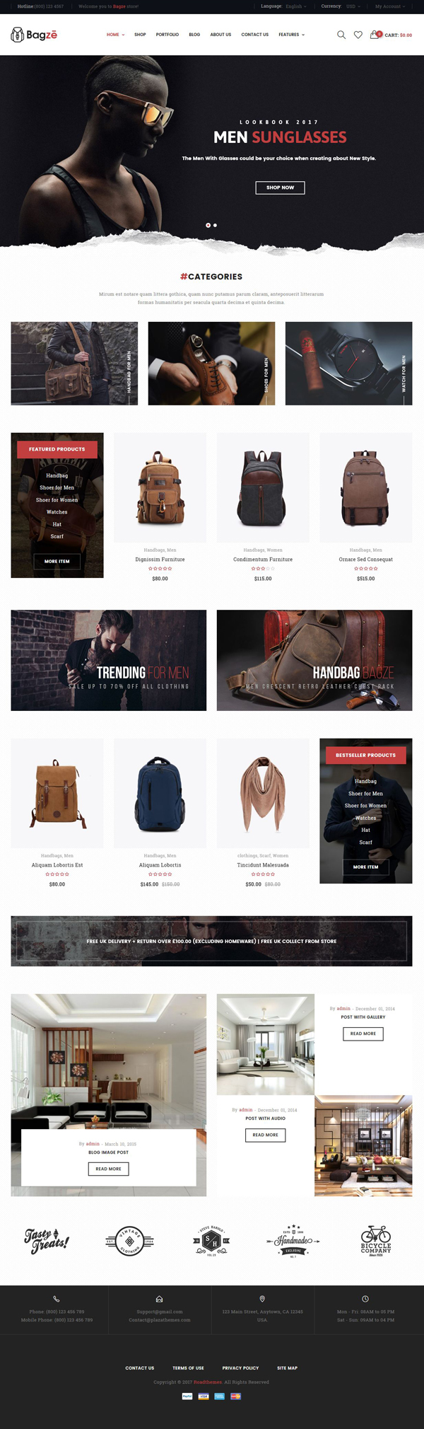 Bagze - Bag Shop WooCommerce WordPress Theme