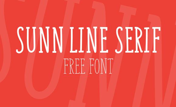 Sunn Line Serif font Preview