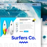Surfers Co. – A Bootstrap-ready PSD template