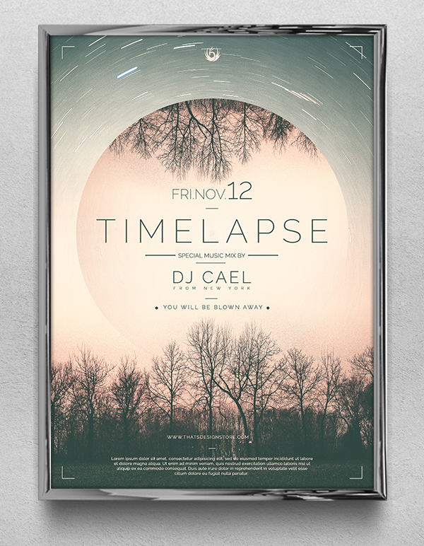 Free Time Lapse Flyer Template PSD