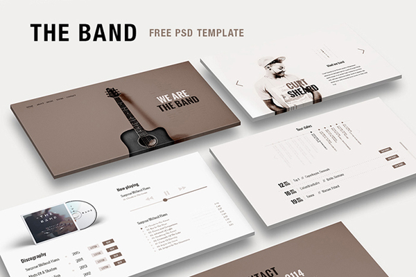 Free Music Band PSD Template