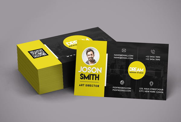 Free PSD Creative Design Studio Business Card Template