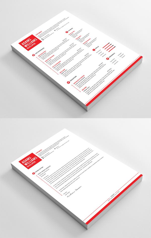 Free Minimal PSD Resume Template