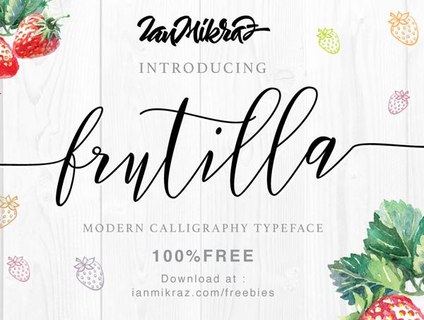 Frutilla Free Brush Font