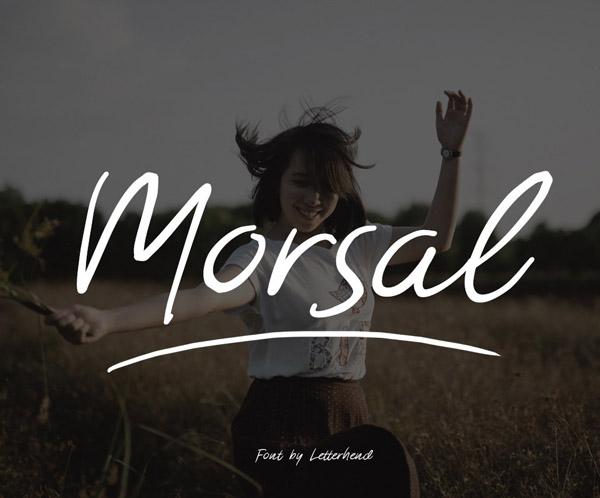 Morsal Free Brush Font