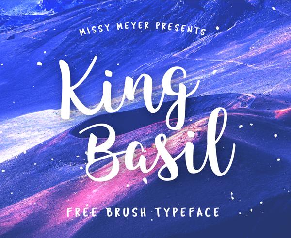 ing Basil Free Brush Font
