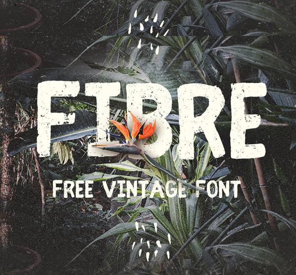 Fibre (Vintage) Free Brush Font